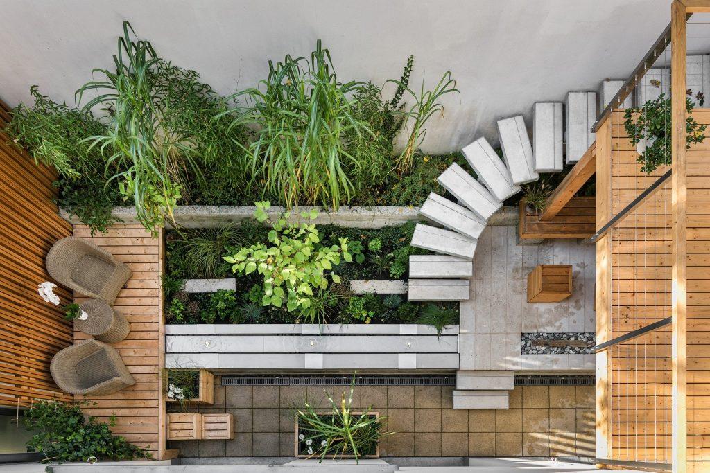 Un jardin d'appartement